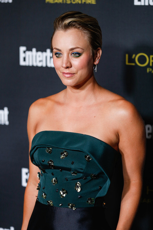 13. Kaley dominates a red carpet appearance