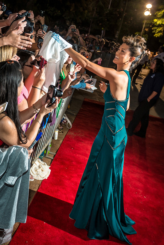 2. She can pull off an epic mohawk-gown combo