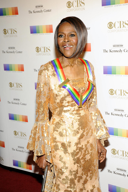 Actress Cicely Tyson glistens in gold.