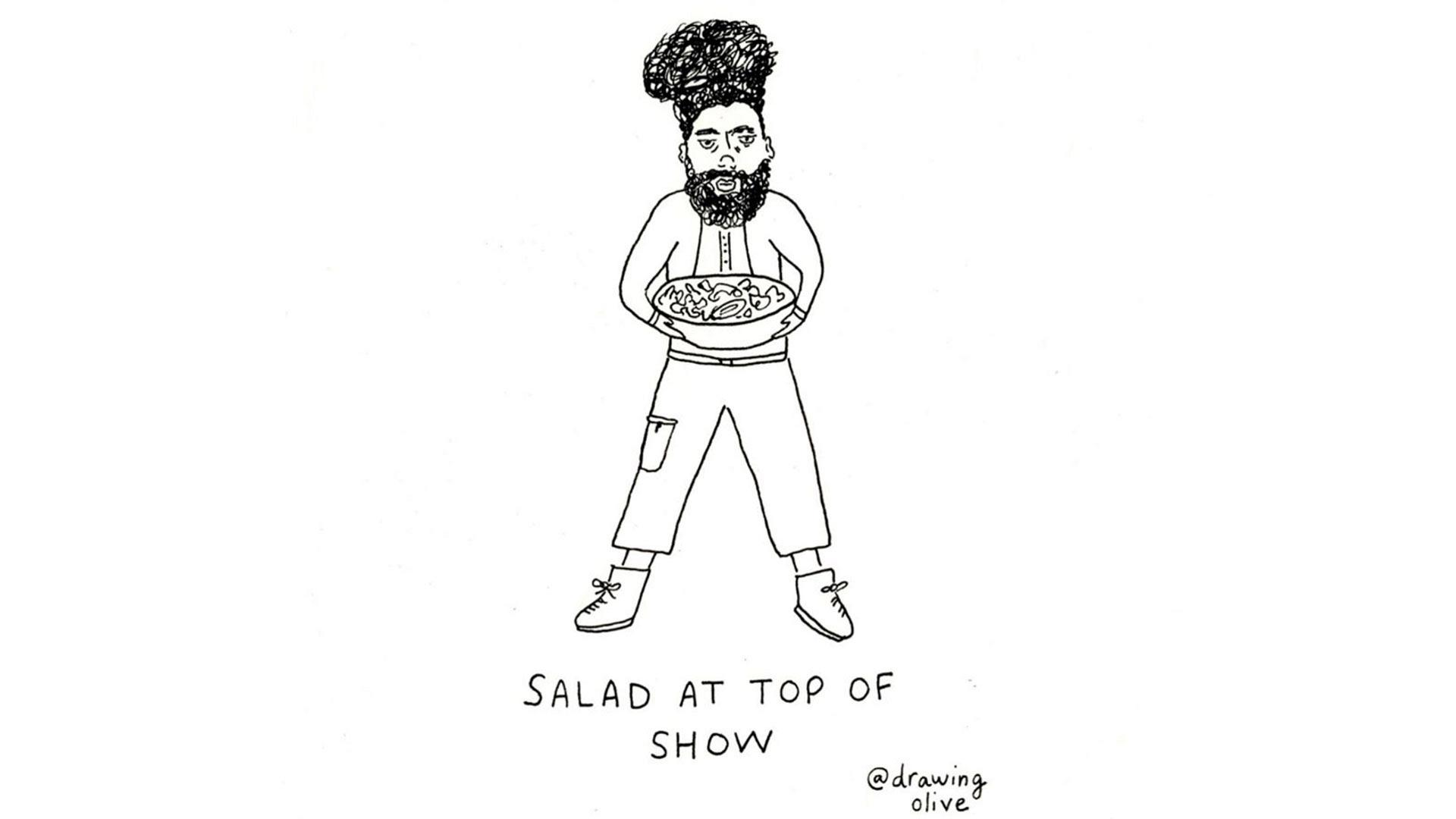 Salad At Top Of Show