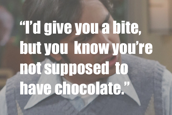 Who did Raj say this to? Emily or Cinnamon?