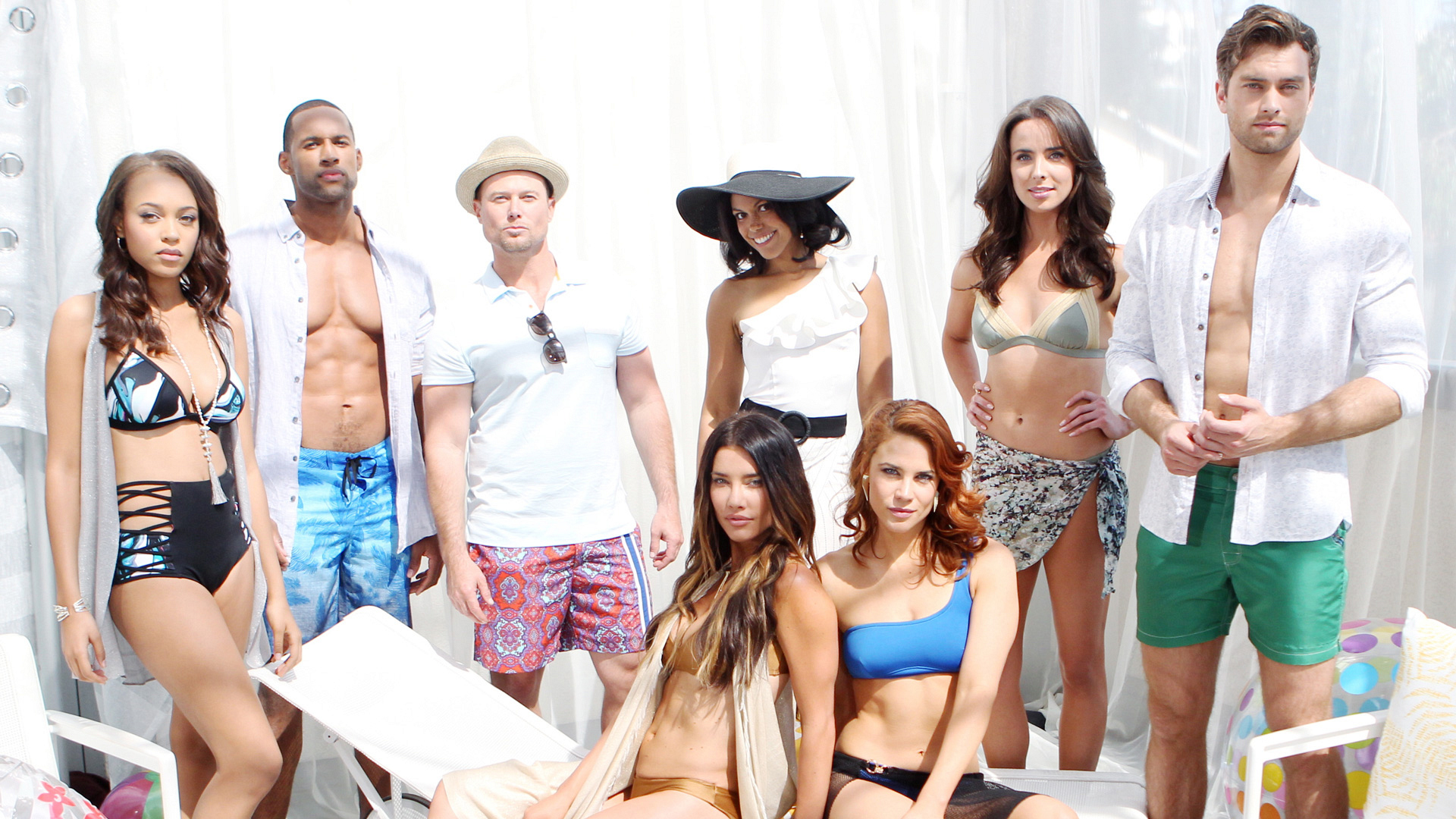 Eight B&B stars shine under the L.A. sun in these amazing outfits.
