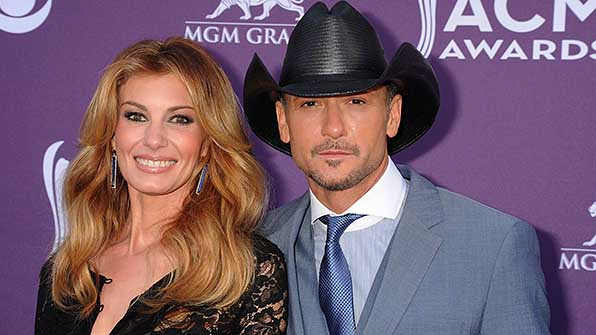 Country music's favorite couple, Faith Hill and Tim McGraw, were the perfect pair at the 48th Annual Academy of Country Music Awards.