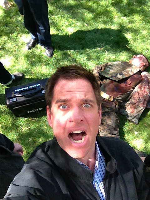 Michael Weatherly and Dead Bodies