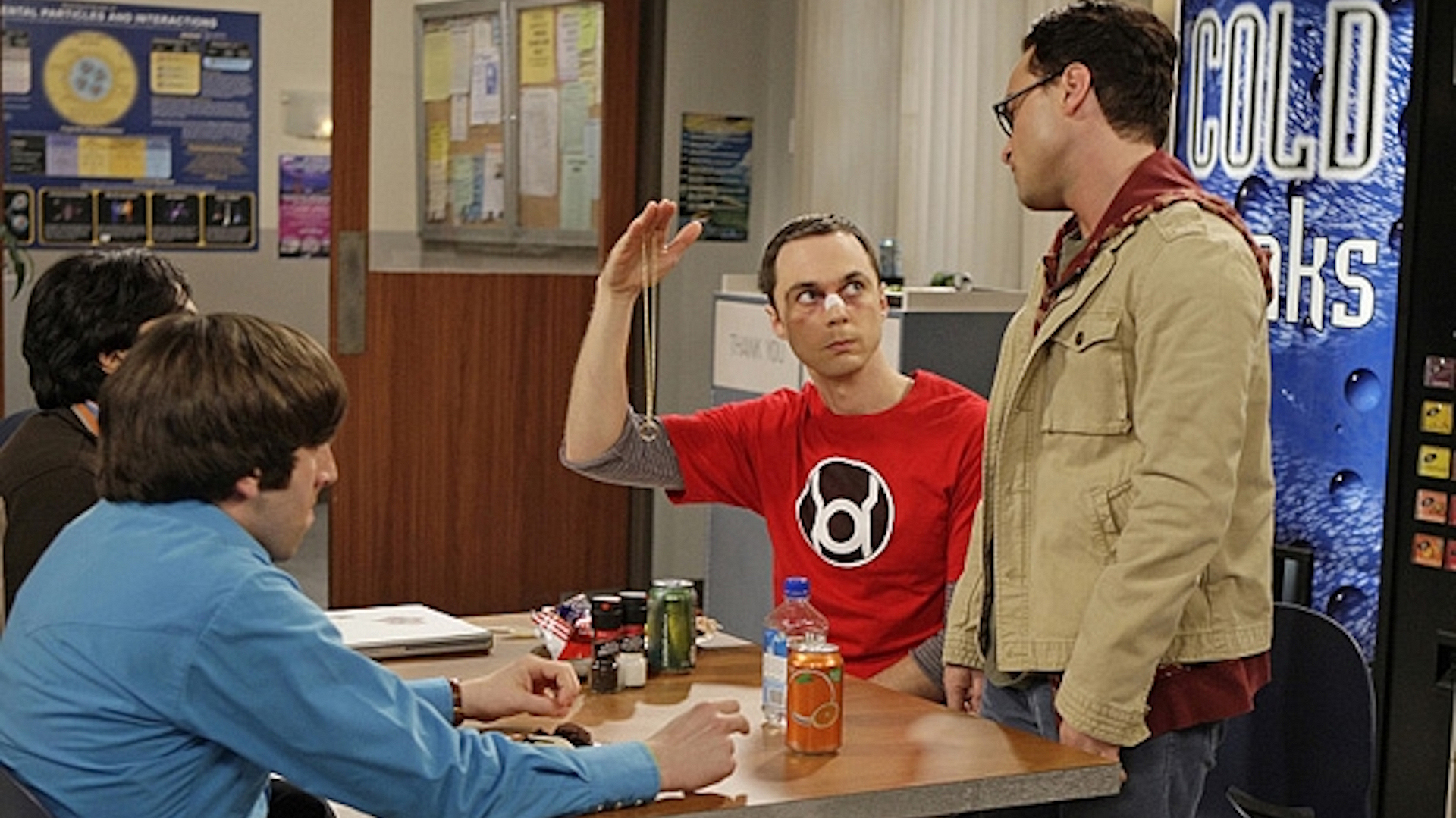 Sheldon Cooper's Red Lantern symbol shirt from The Big Bang Theory