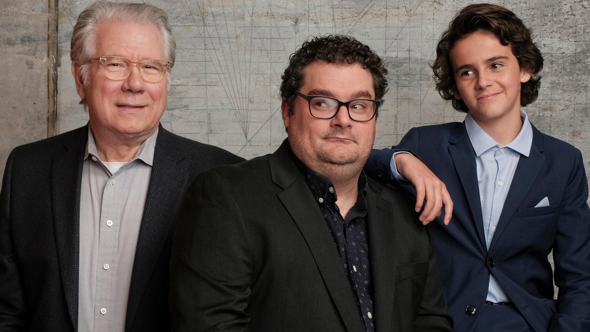 John Larroquette, Bobby Moynihan, and Jack Dylan Grazer of Me, Myself & I
