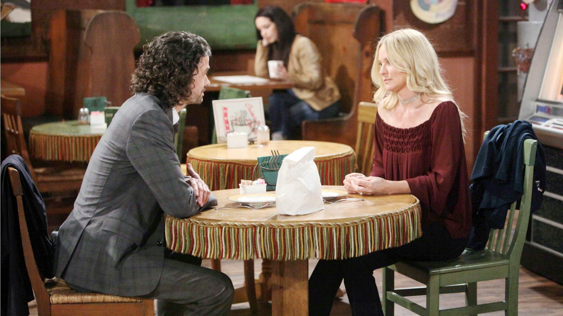 Sharon bonds with Scott.