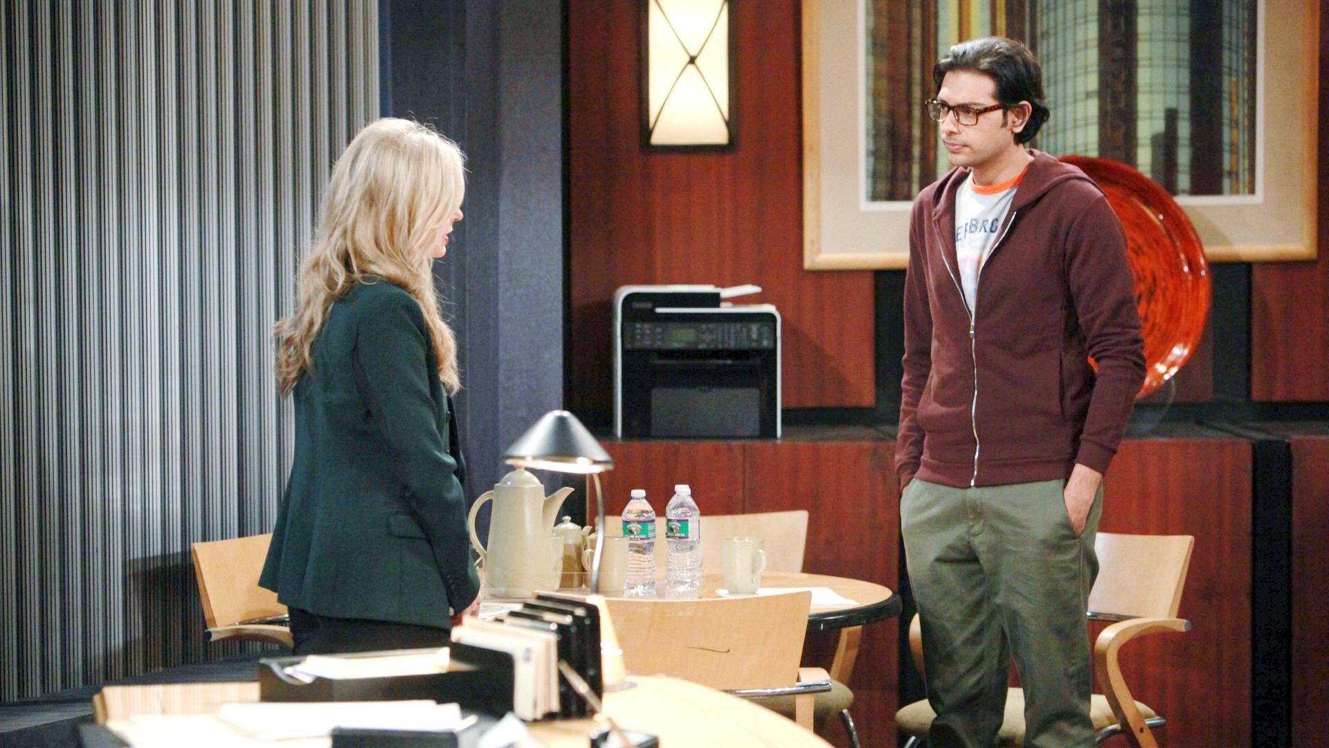 Ravi comforts Ashley.