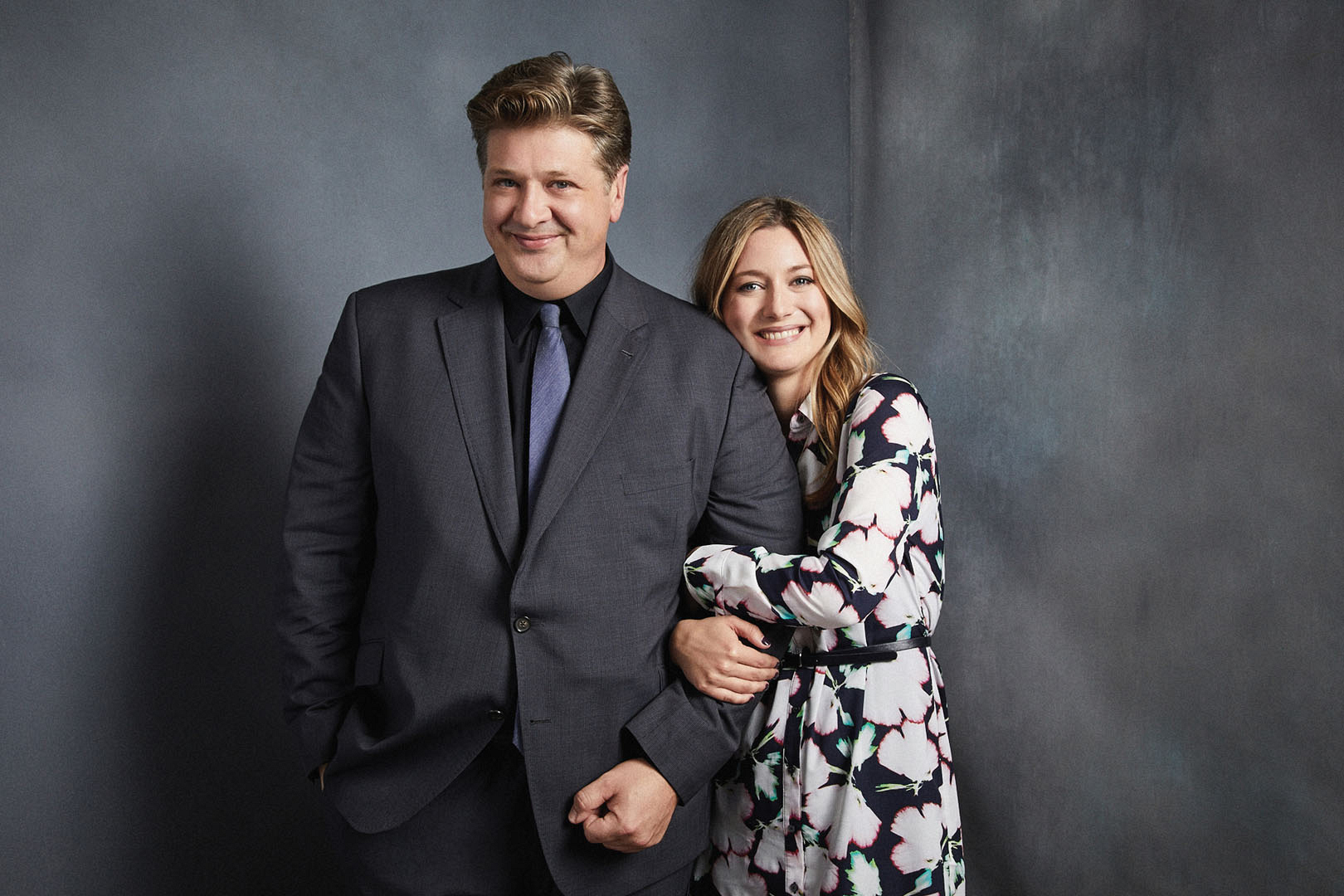 Lance Barber and Zoe Perry