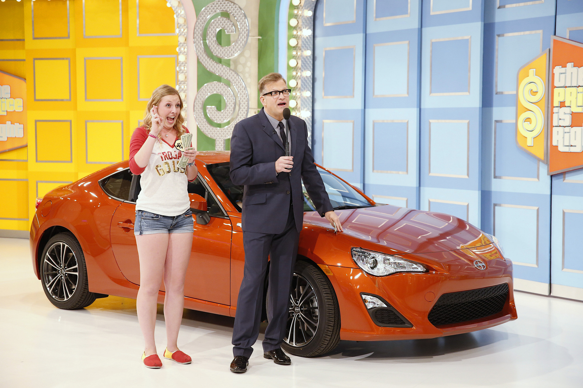 Drew, contestant, and a 2013 Scion FRS