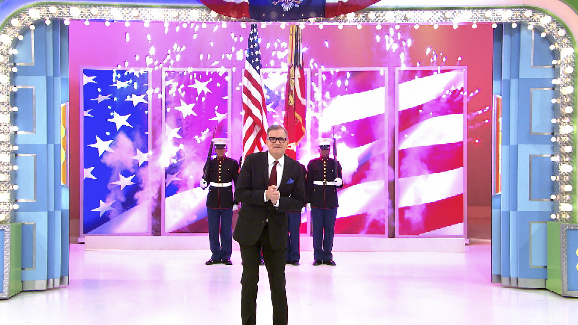 Drew Carey Celebrates with an Audience of Service Men and Women