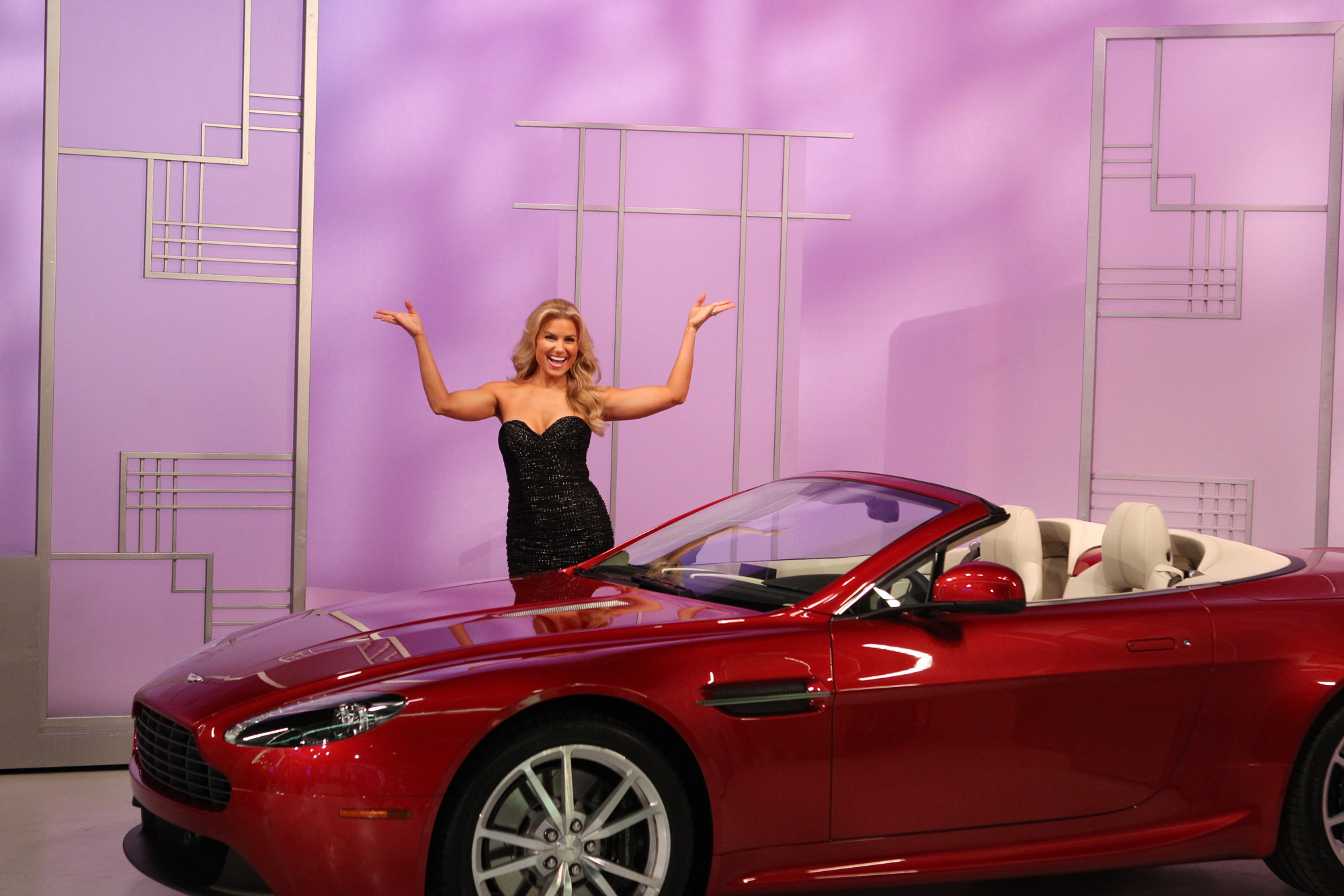 Rachel with Aston Martin