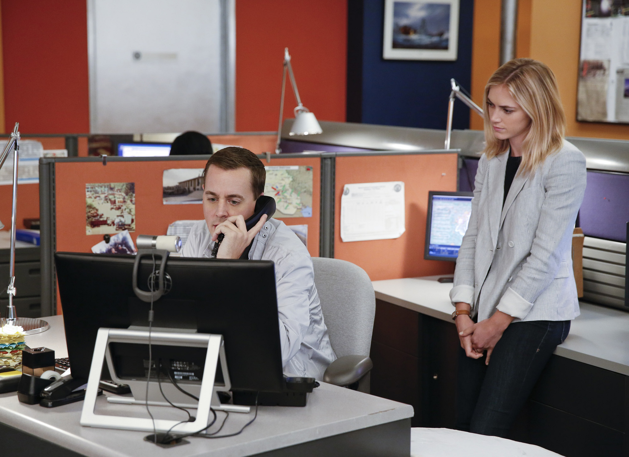 Sean Murray as Timothy McGee and Emily Wickersham as Ellie Bishop.