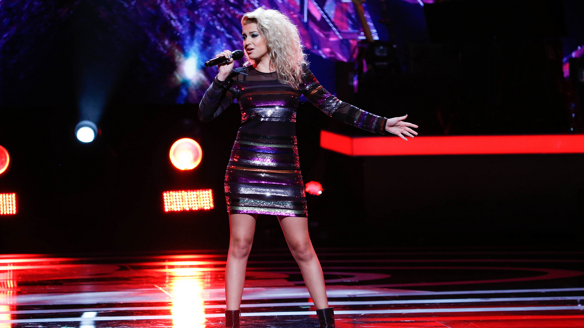 Tori Kelly performs as part of the opening medley at Bee Gees Tribute