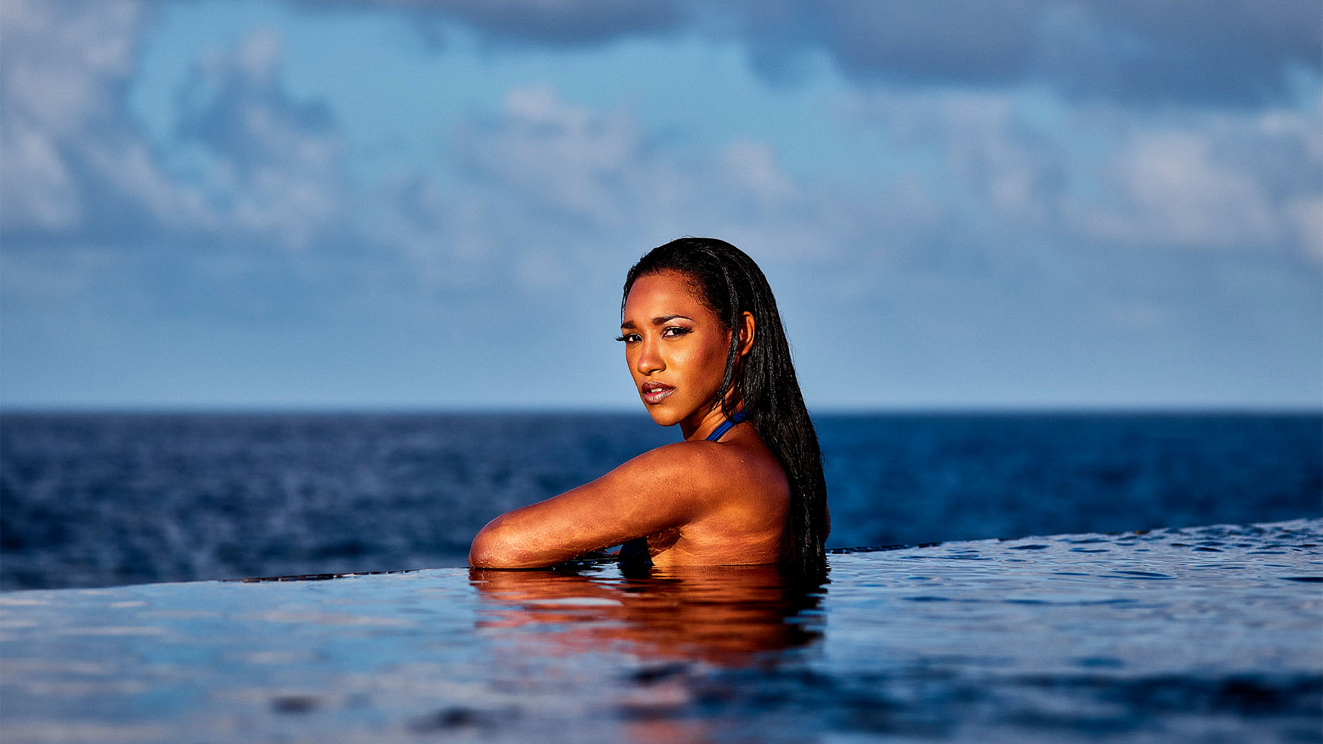 Candice Patton takes us to paradise