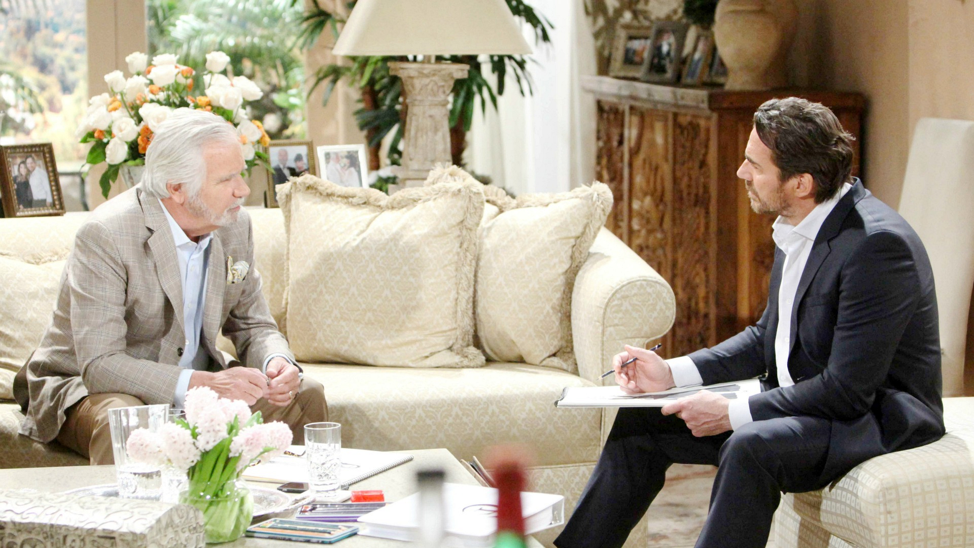 Ridge feels pangs of guilt as Eric advises him on how to win back Brooke's heart.