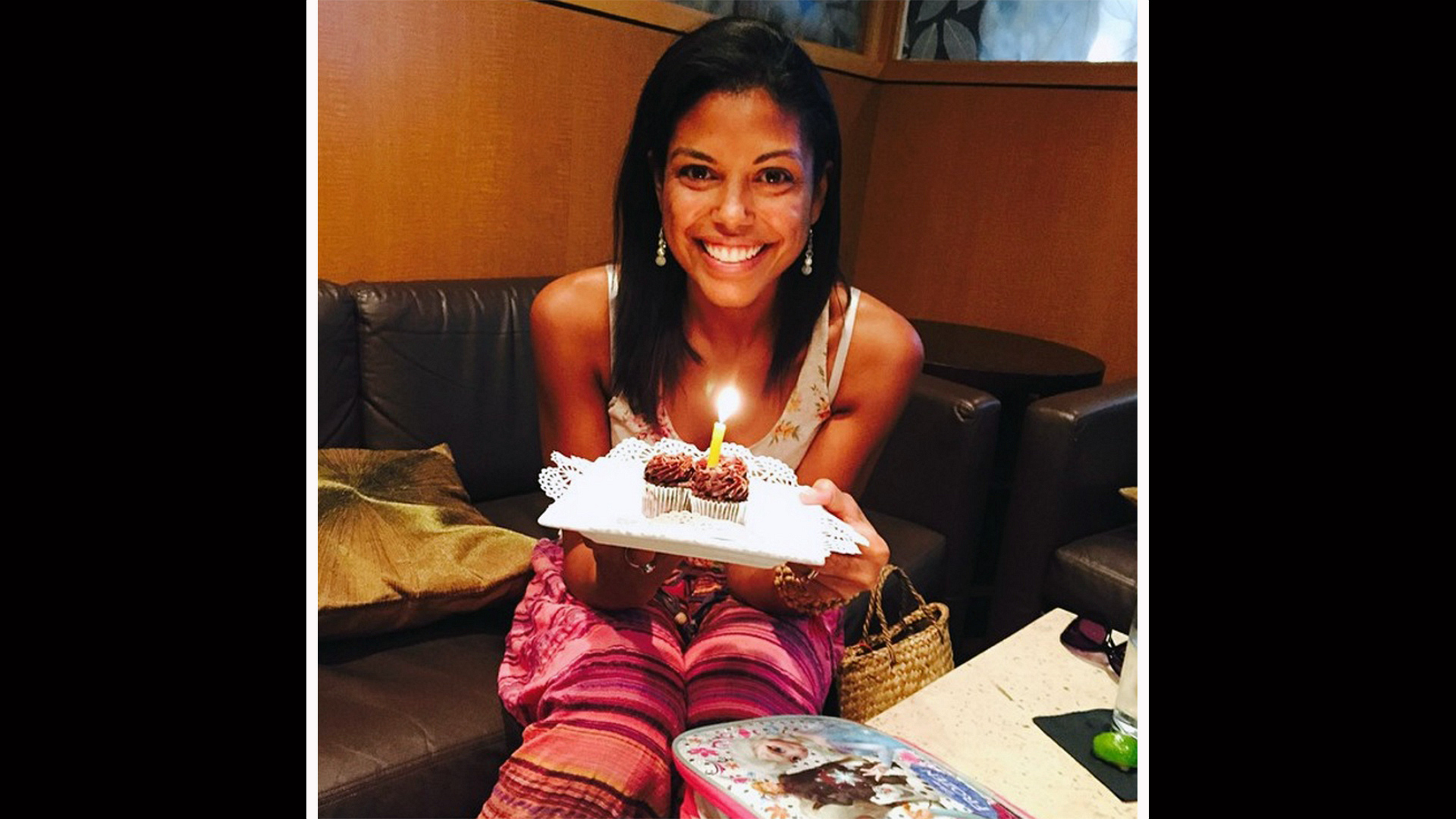 Karla Mosley radiates on her special day.