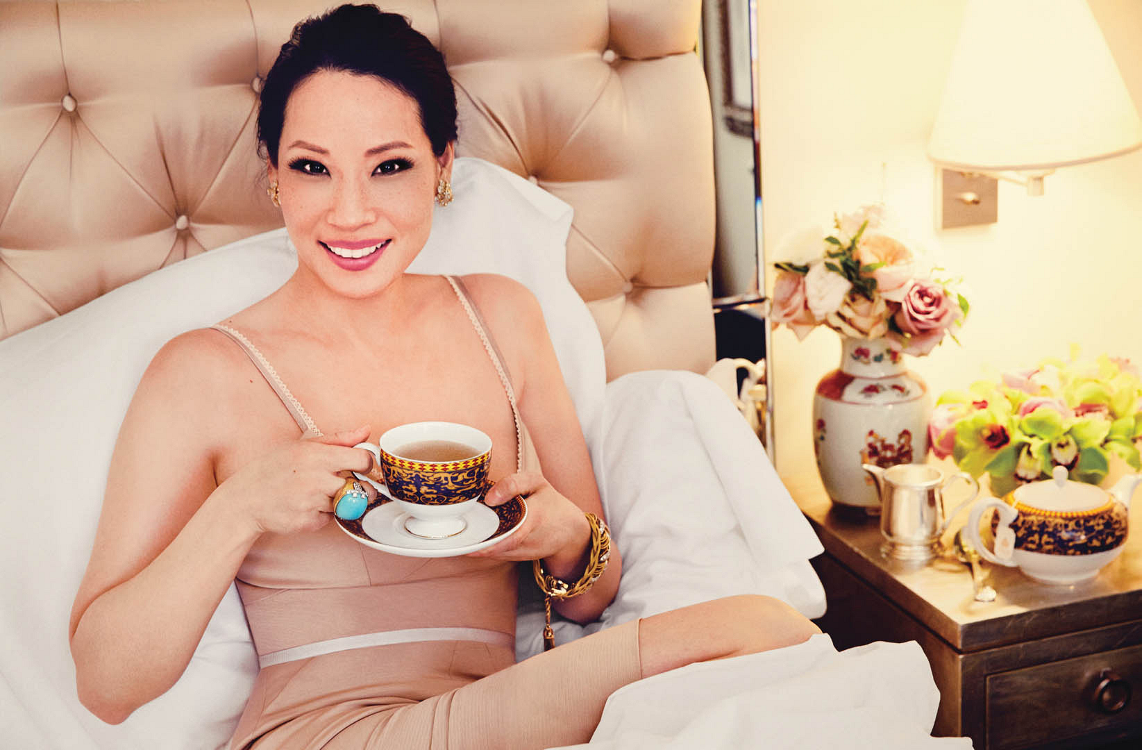 Lucy Liu, especially when she knows our cup o' tea