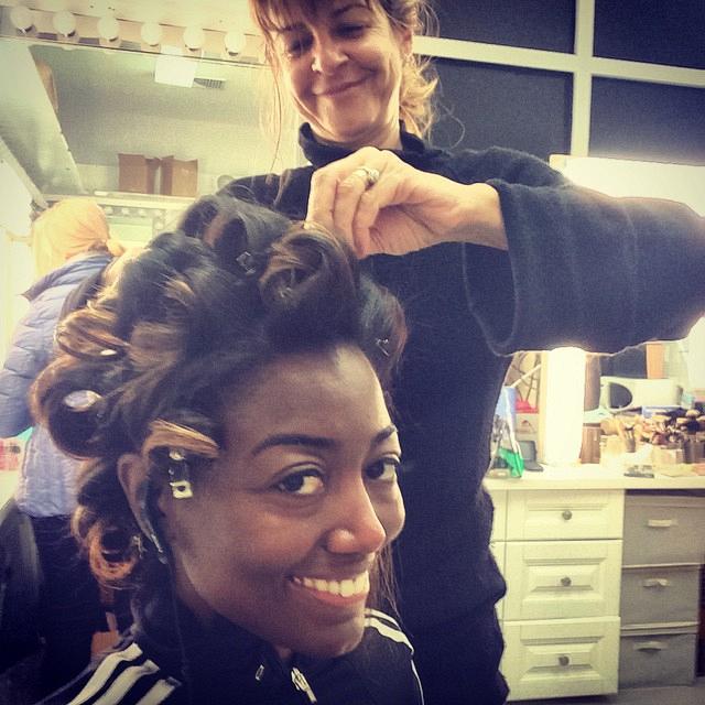 Madam Secretary Instagram: Patina: Glam time! Starting the day on set. #SetLife #MadamSecretarySunday #CBSInstagramTakeover