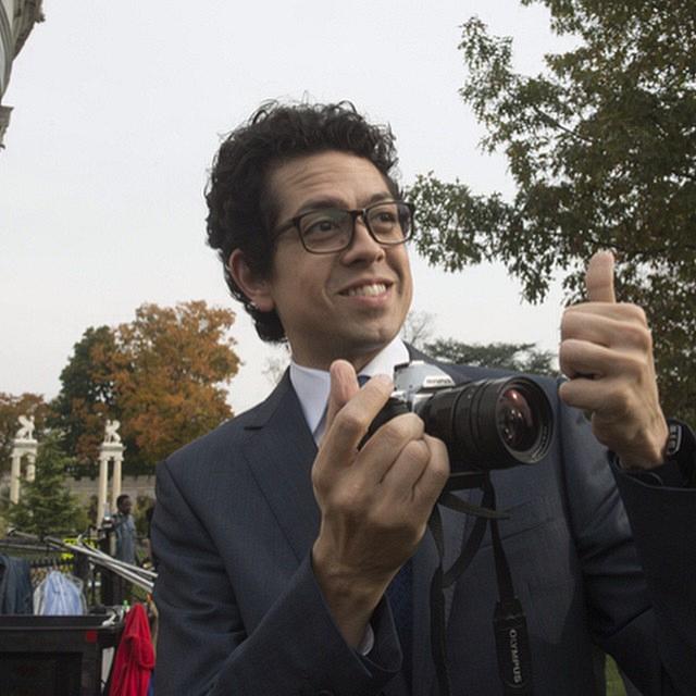 Madam Secretary Instagram: Geoffrey: Matt Mahoney – speechwriter AND photographer? Who knew? #SetLife #SetFun #MadamSecretarySunday