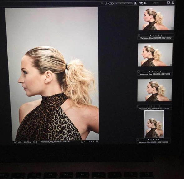 Blue Bloods' Vanessa Ray rocks a fierce ponytail.