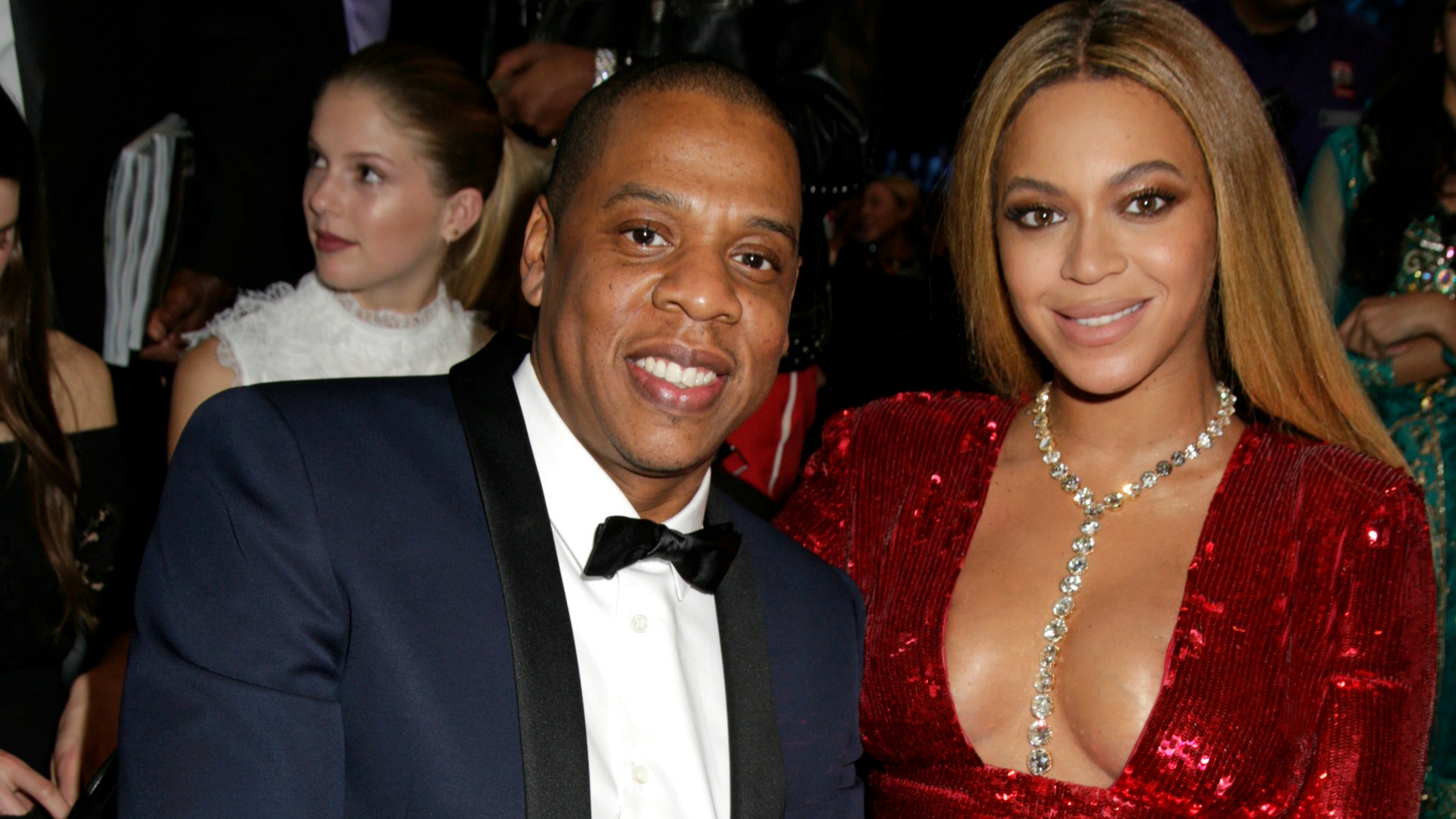 It's only fitting that Jay Z and Beyoncé snagged front-row seats at Music's Biggest Night®.