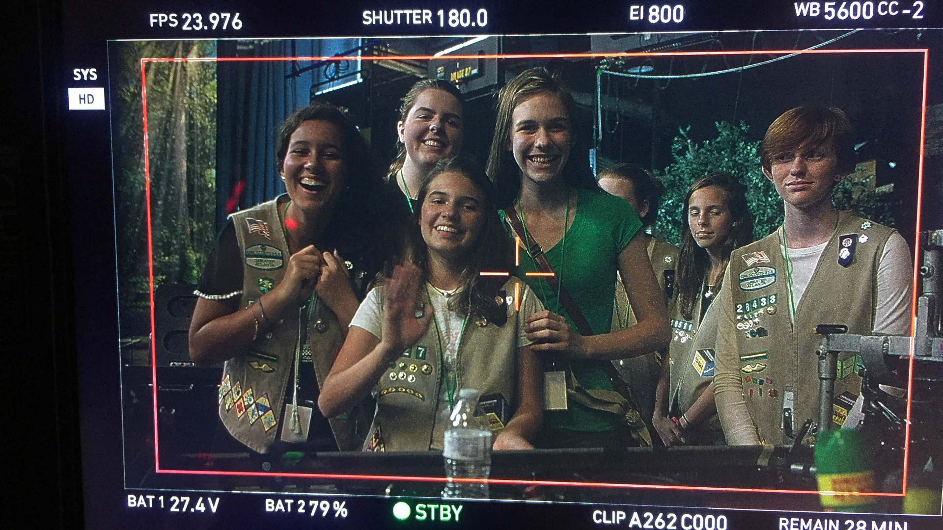 The Girl Scouts get in front of the MacGyver cameras.