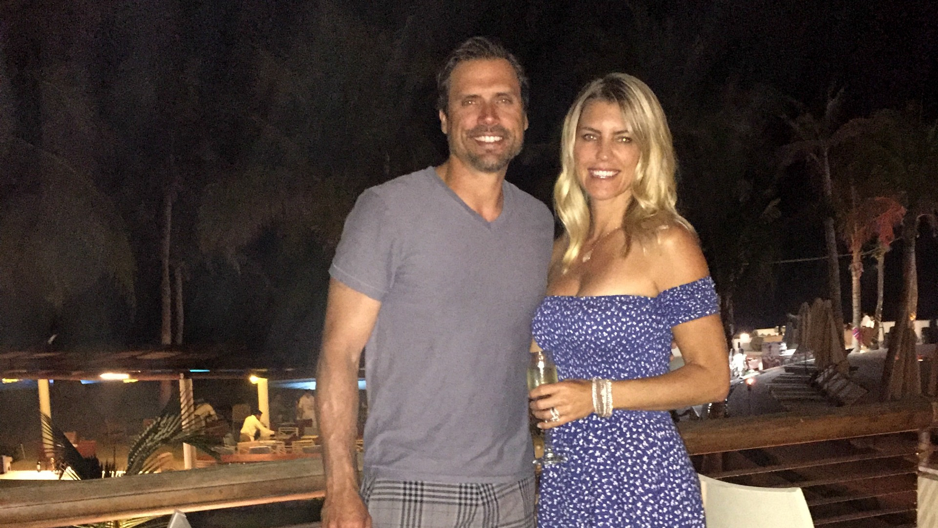 Joshua Morrow (Nick Newman) and his wife, Tobe, had some fun in the sun in Cabo, Mexico!
