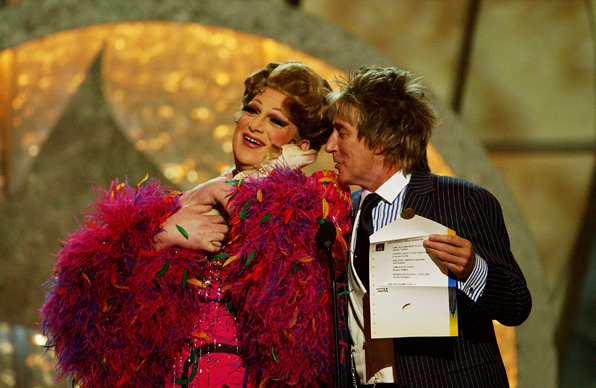 Rod Stewart and Harvey Fierstein