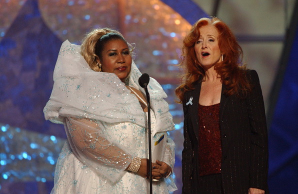 Aretha Franklin and Bonnie Raitt