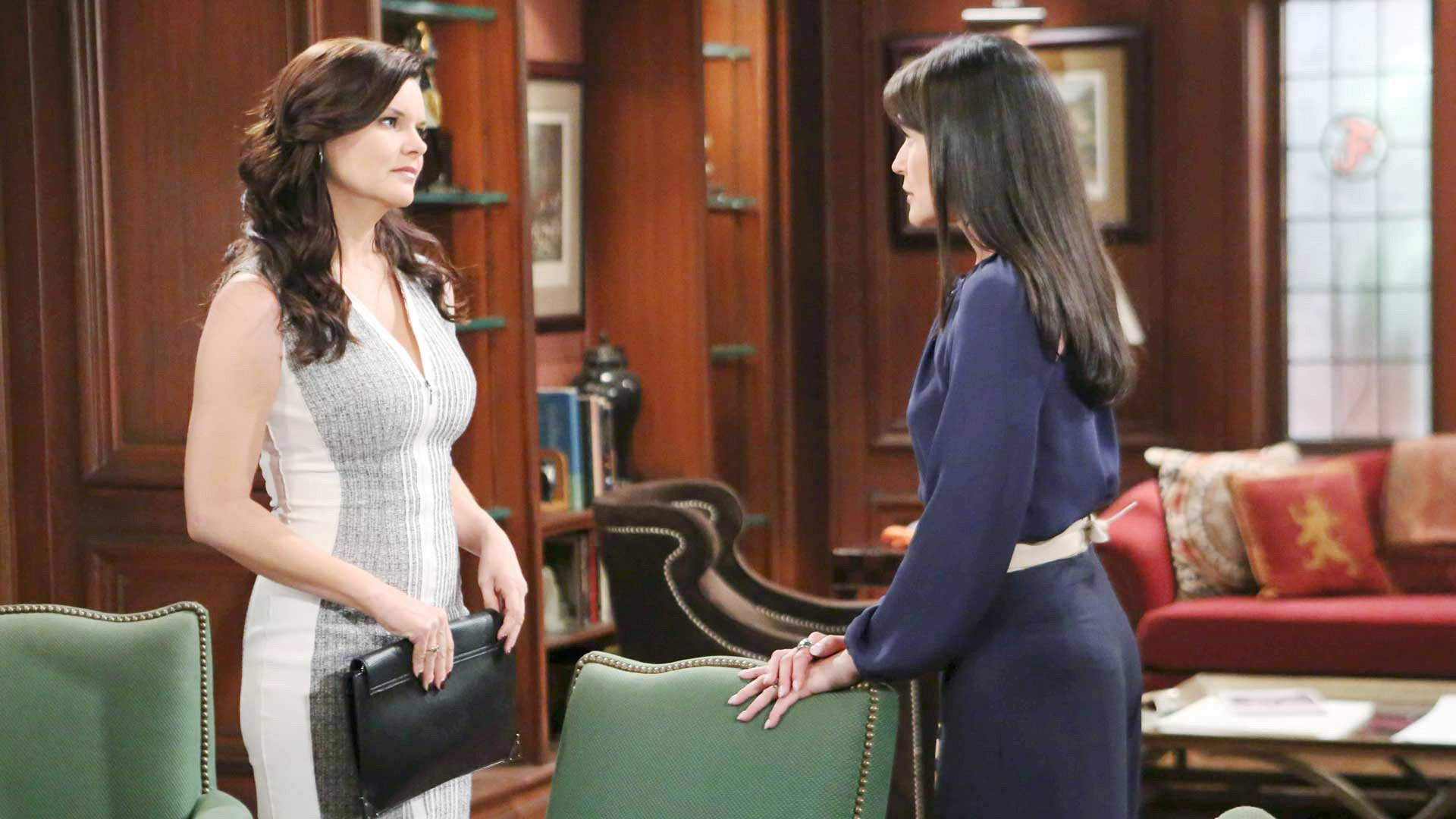 Quinn and Ridge are given assurance that their affair of the heart will not be revealed to Eric.