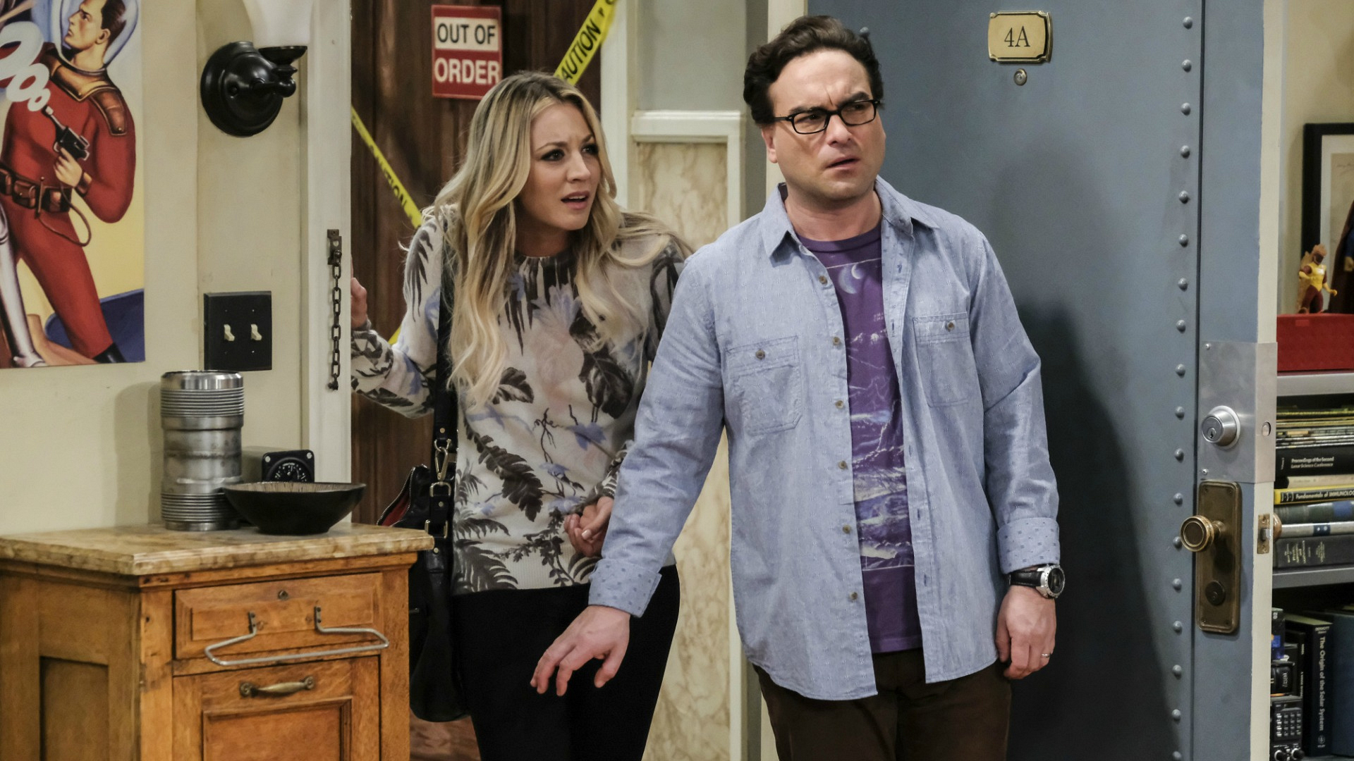 Leonard and Penny walk into a shocking situation.