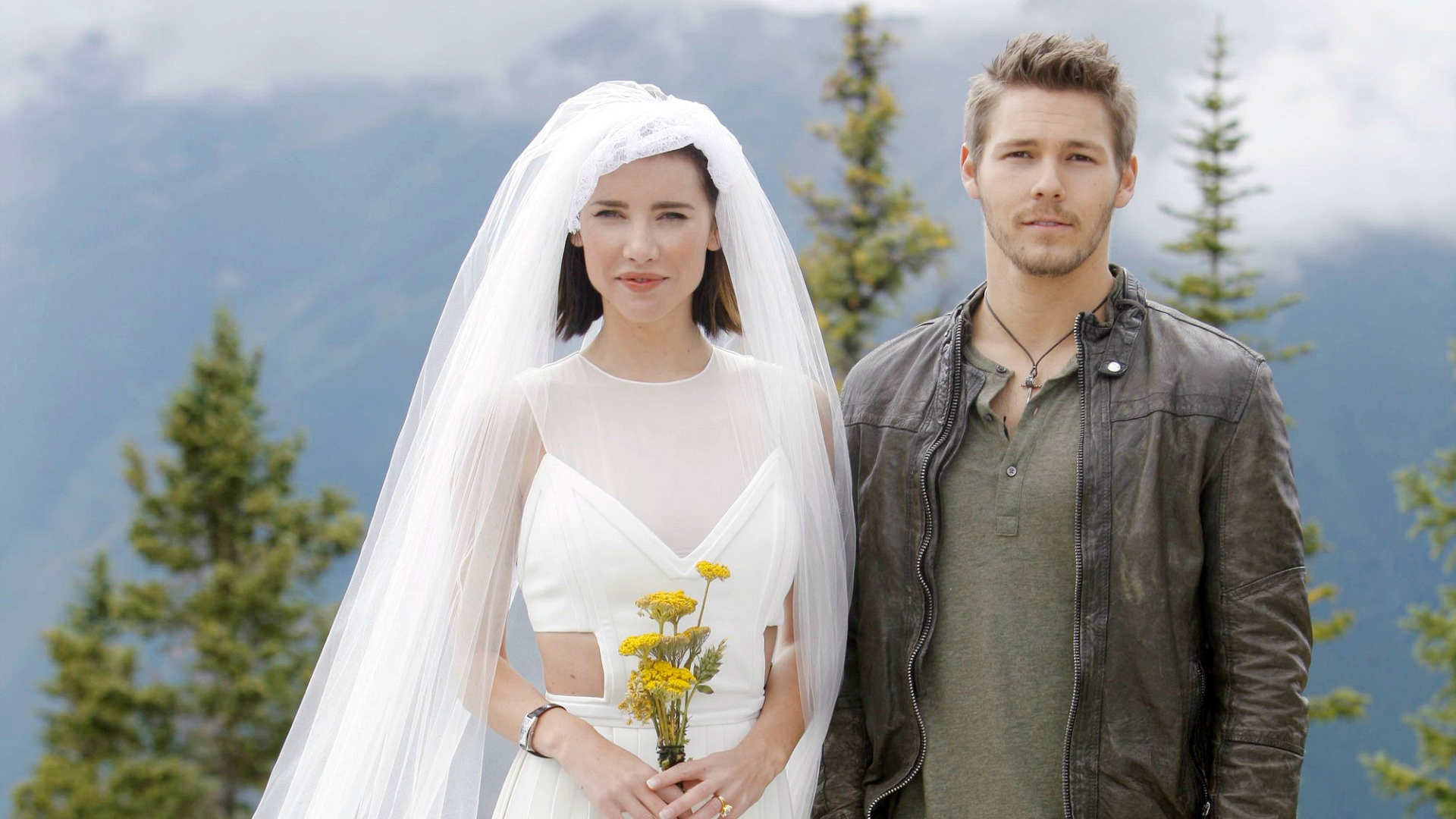 "Steffy Forrester said ""I do"" to Liam Spencer on a mountaintop in Aspen in 2011."