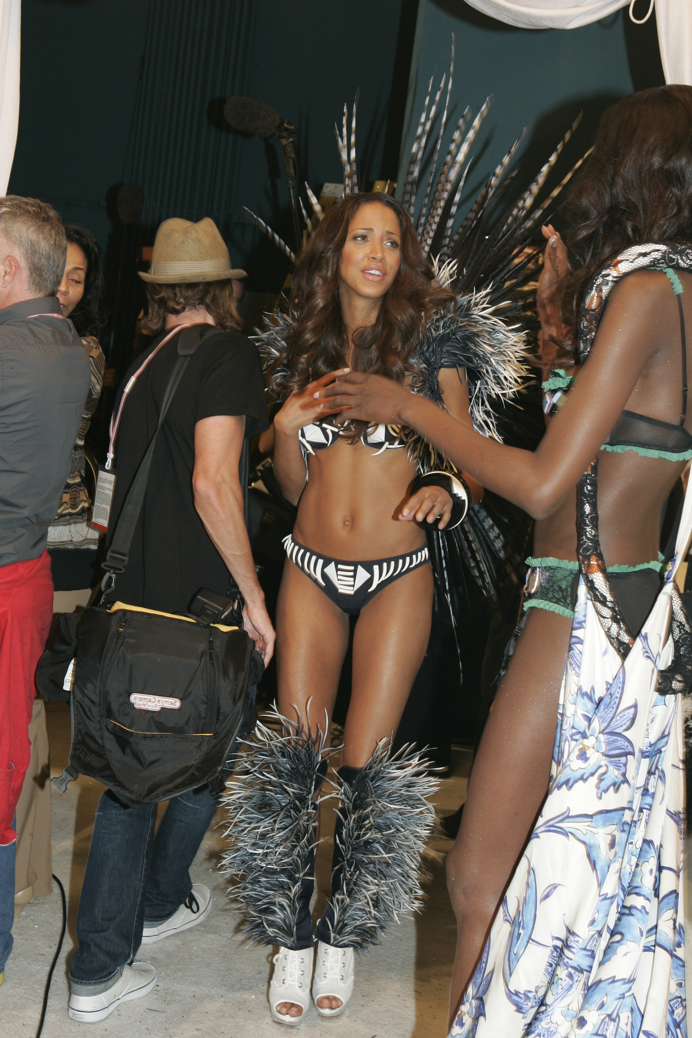 Backstage at the Victoria's Secret Fashion Show