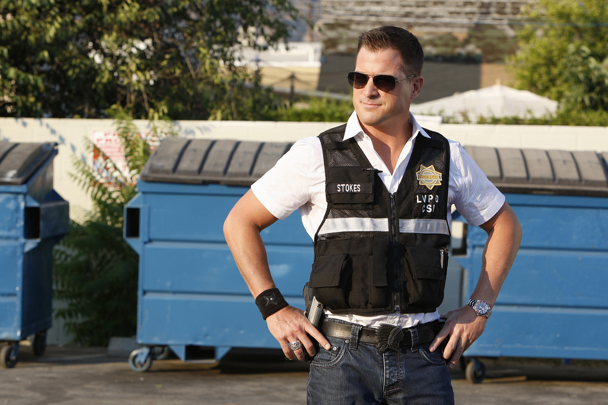 "George Eads as Nick Stokes in ""Coup de Grace"""