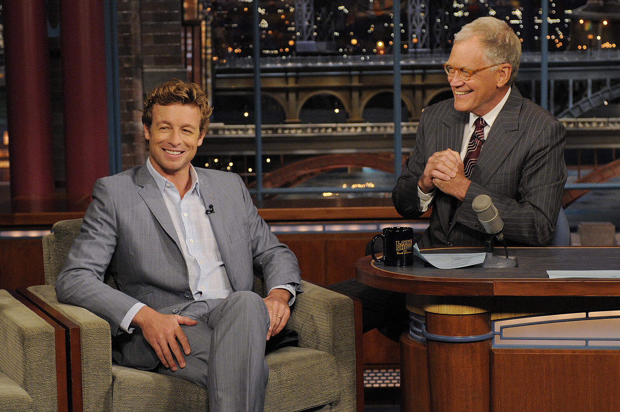 When Simon Baker took his hair to visit Dave