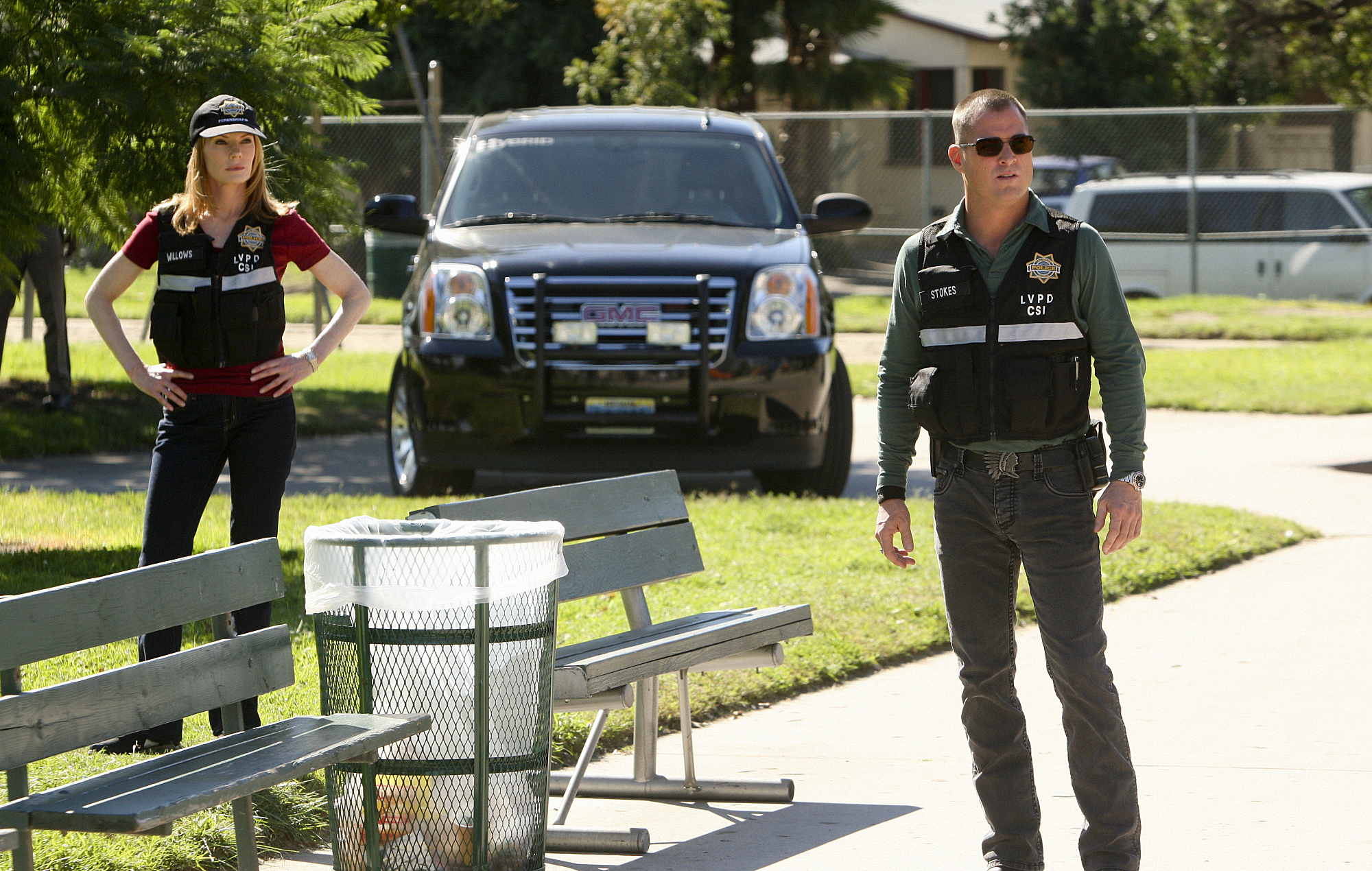 """George Eads as Nick Stokes in """"418/427"""""""