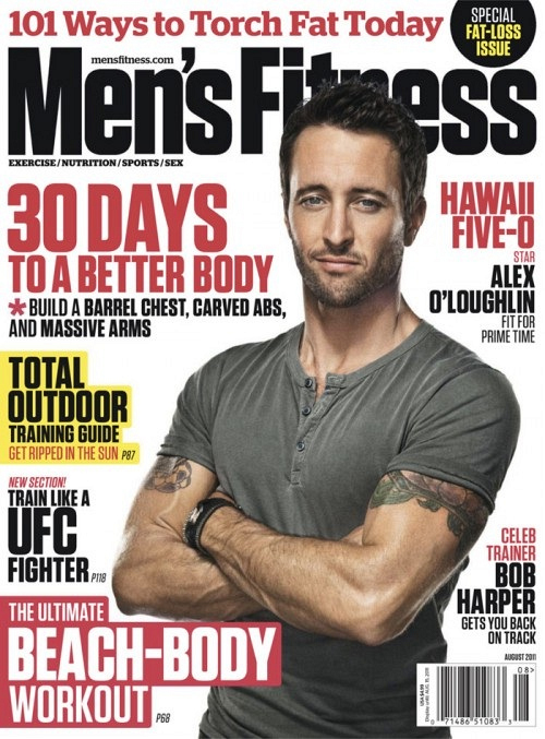 Alex O'Loughlin on the Cover of Men's Fitness