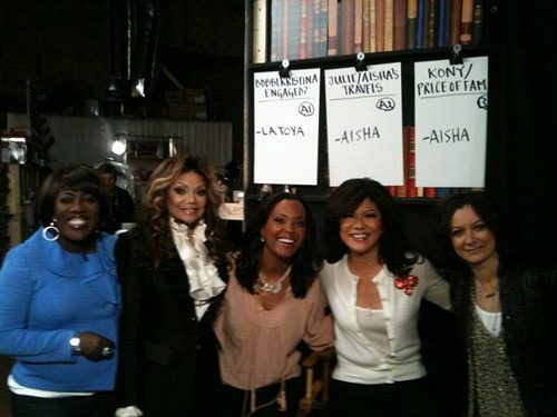 La Toya Jackson with the Hosts!