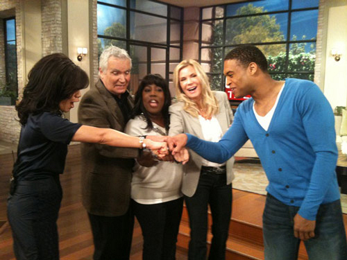 B&B & The Talk Fist Bump!