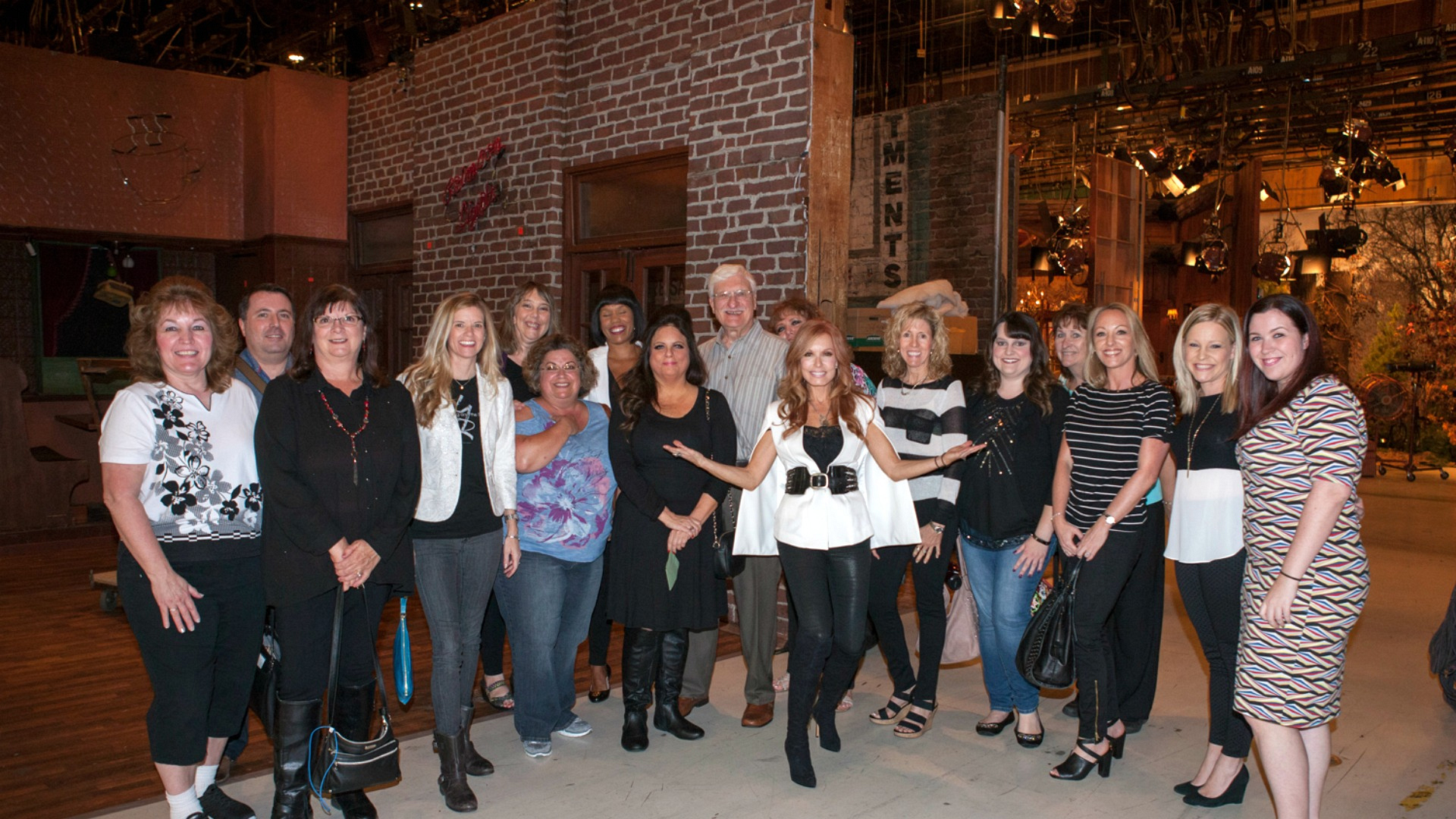 Fans hang with Y&R's Tracey Bregman at the Y&R set.
