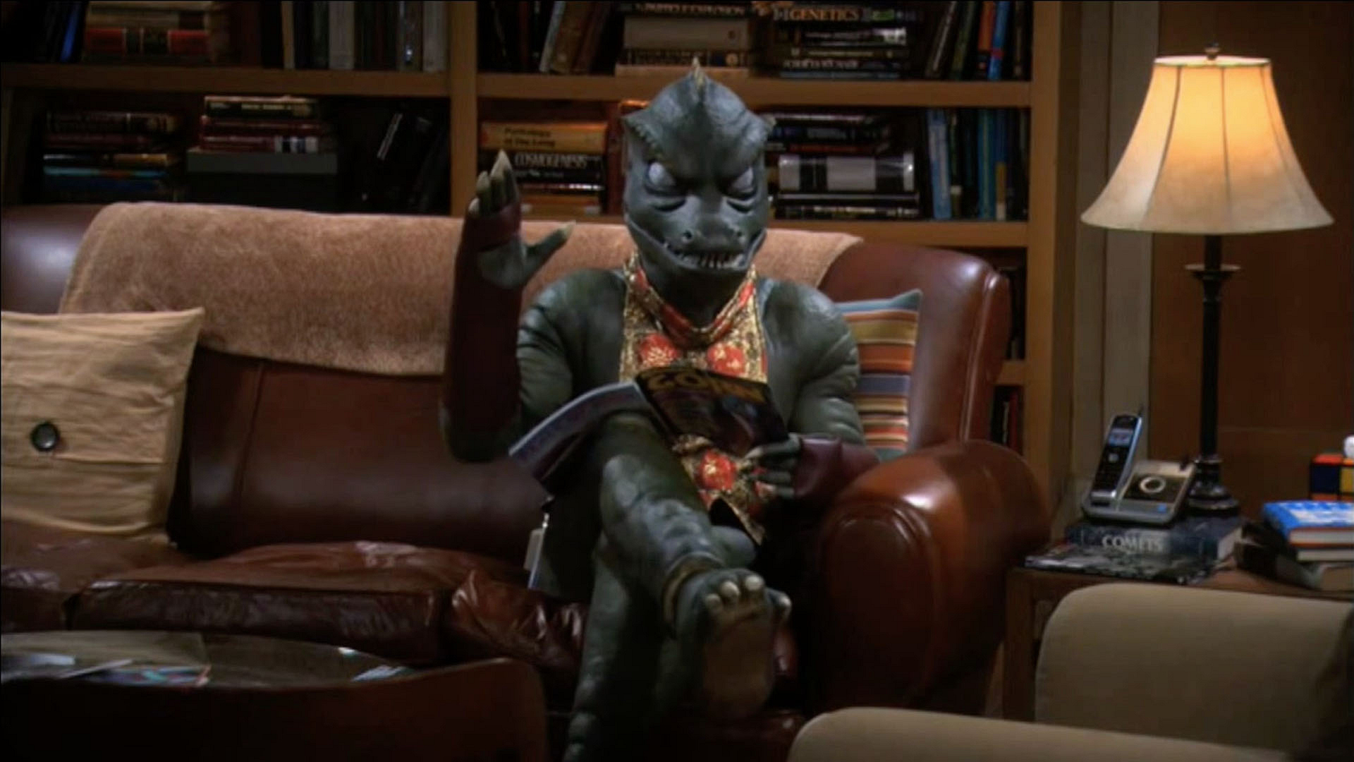 """No, Gorn, no. That's where I sit."""