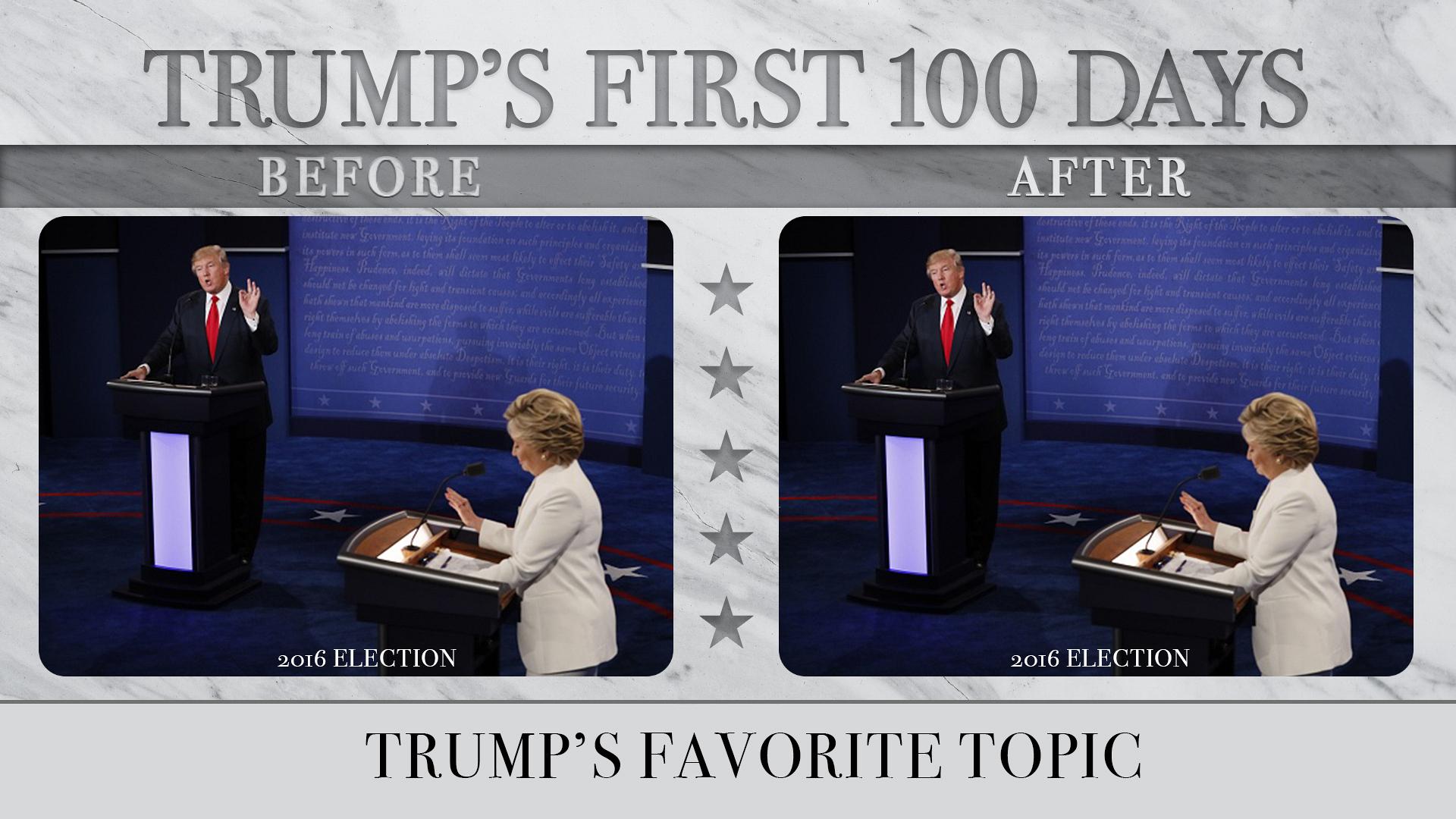 Trump's Favorite Topic