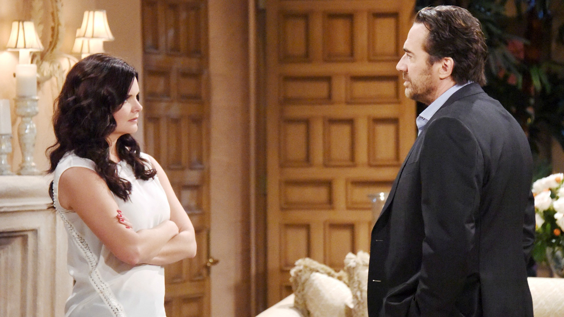 Ridge quickly catches onto Katie's scheme to get back at Quinn for her previous misdeeds.