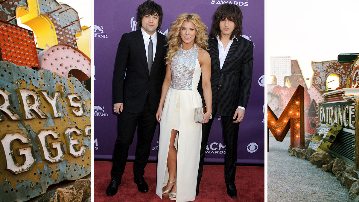 The Band Perry brings lots of shag to the carpet.