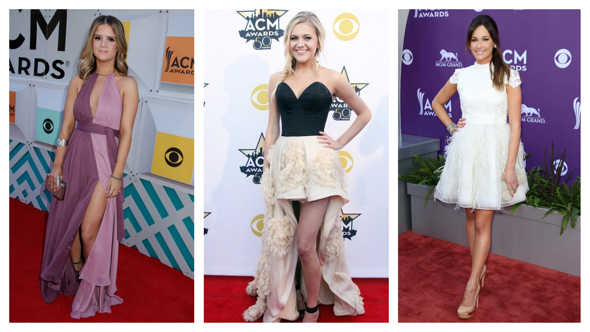 Look back on these first-ever ACM red carpet appearances by some of country's biggest names.
