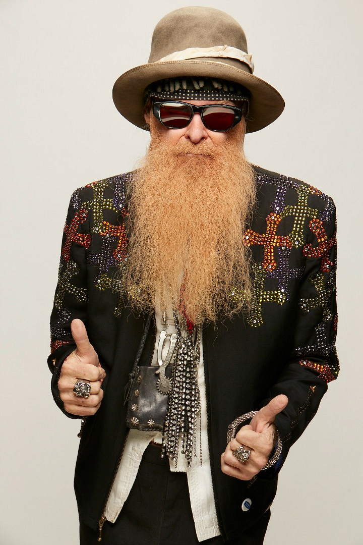 Billy Gibbons rocks some serious studs.