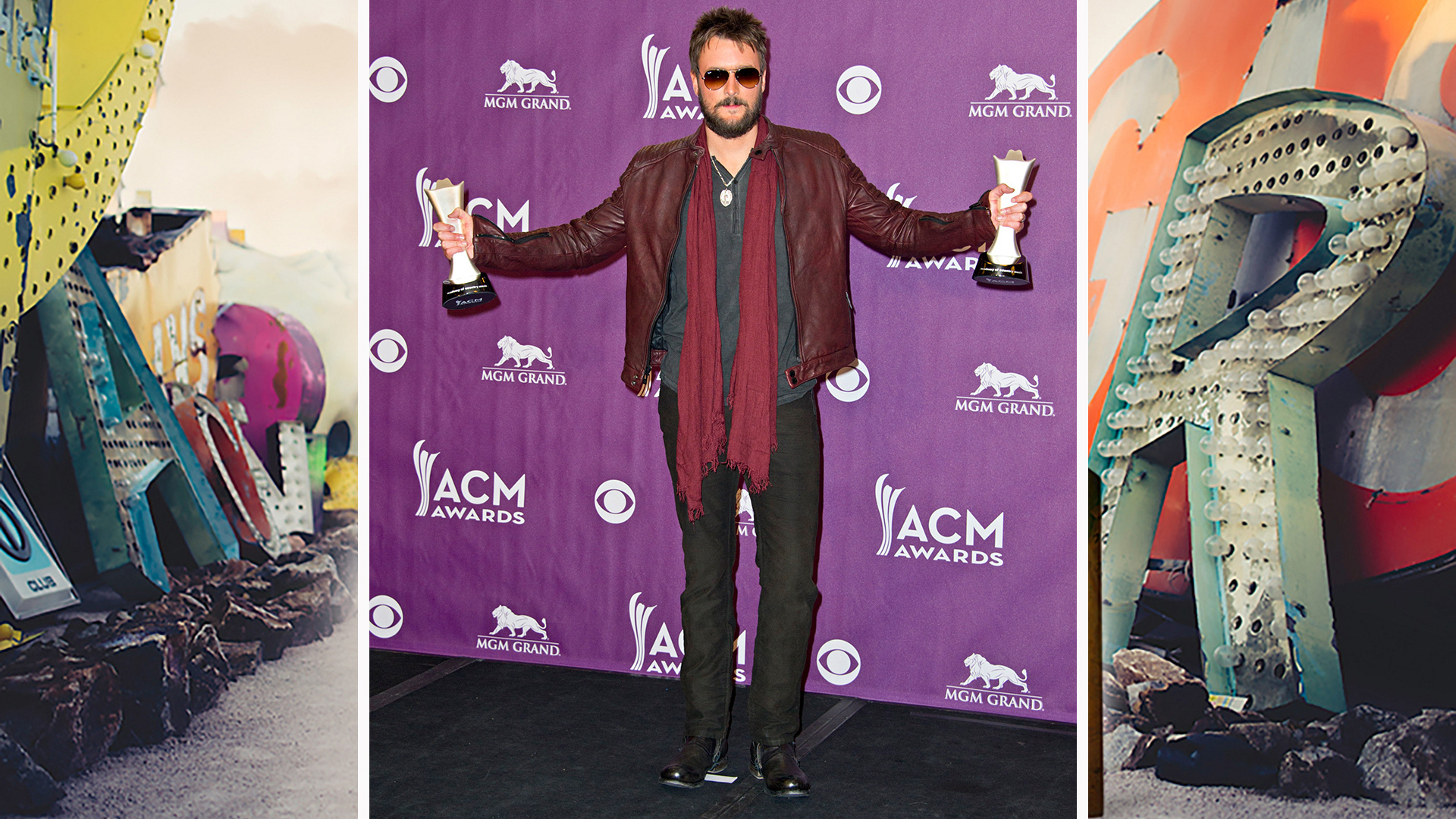 Eric Church sports his Sunday best wherever he goes.