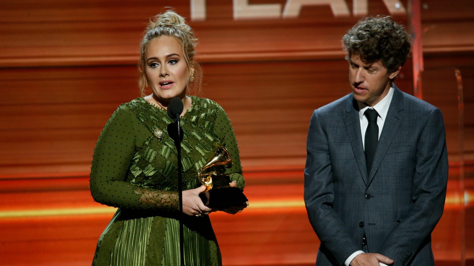Adele wins Song Of The Year at the 2017 GRAMMY Awards