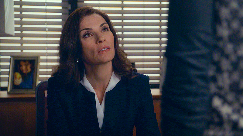 "Alicia Florrick in ""The Line"" - S6E1"